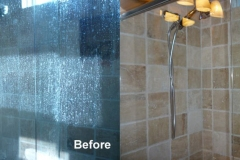 SHOWER DOORS BEFORE AND AFTER